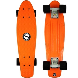 Plastový skateboard Shock orange/white/black