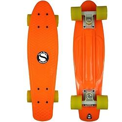 Plastový skateboard Shock orange/white/yellow