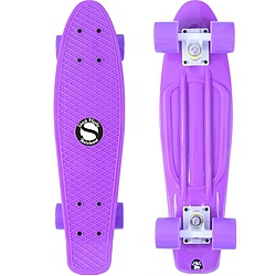 Plastový skateboard Shock purple/white/purple