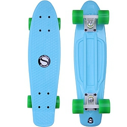 Plastový skateboard Shock ice blue/white/green
