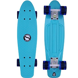 Plastový skateboard Shock ocean blue/white/transparent navy