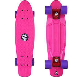 Plastový skateboard Shock pink/red/purple