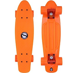 Plastový skateboard Shock orange/orange/orange