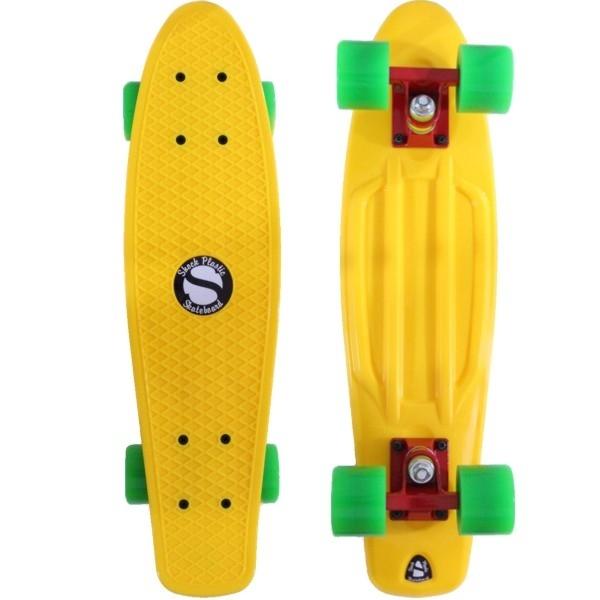 Plastový skateboard shock yellow red green - shockboardshop.cz 9a09436726