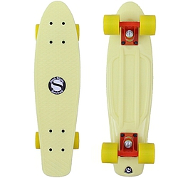 Plastový skateboard Shock lt. yellow/orange/yellow