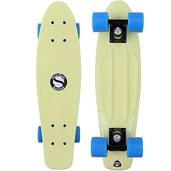 Plastový skateboard Shock lt. yellow/black/blue