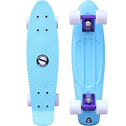 Plastový skateboard Shock ice blue/purple/white