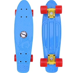 Plastový skateboard Shock blue/yellow/red