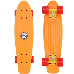 Plastový skateboard Shock orange/yellow/red