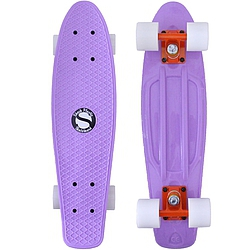 Plastový skateboard Shock lt. purple/orange/white