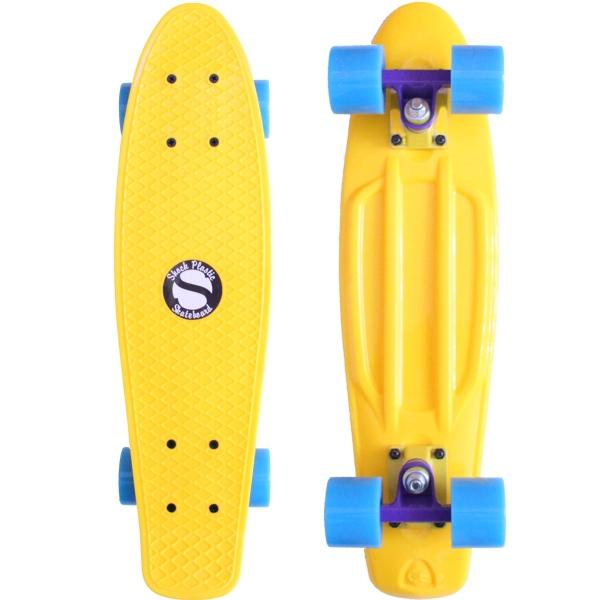 Plastový skateboard shock yellow yellow-purple blue - shockboardshop.cz 9c5320d3b9