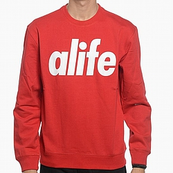 Mikina bez kapuce ALIFE NYC Core Logo true red