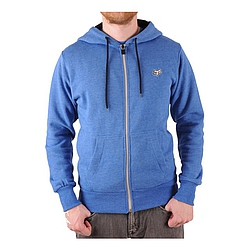 Mikina s kapucí na zip FOX Mr.Clean Zip Front Fleece heather bl