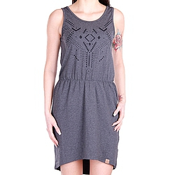 šaty Funstorm Evelyn Dress dark grey