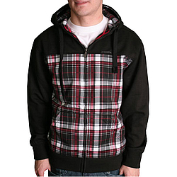 Mikina s kapucí na zip Ecko Unltd. Pieced Plaid (Core) black v