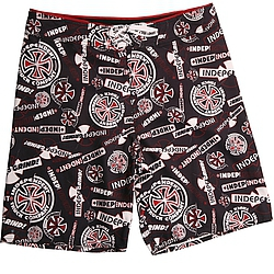 boardshorts - plavky Independent Ripped black