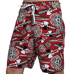boardshorts - plavky Independent Ripped cardinal red