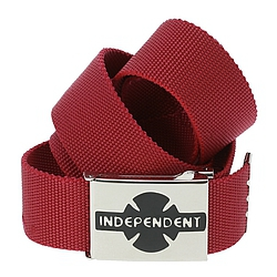 pásek Independent Clipped cardinal red