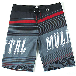 boardshorts - plavky Metal Mulisha Stepup black