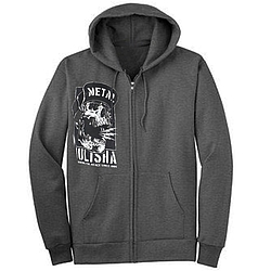 Mikina s kapucí na zip Metal Mulisha No Peace Zip Up charcoal