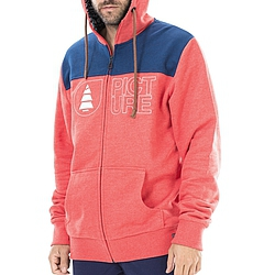 Mikina s kapucí na zip Picture Basement Hoodie red