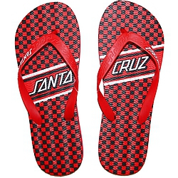 pantofle Santa Cruz Check Strip red/black