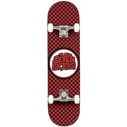 skateboard komplet Seven Skates Checkered red